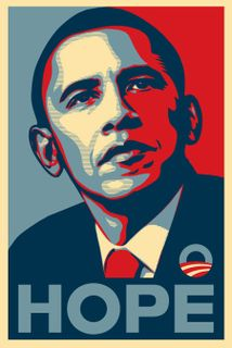 "Shepard Fairey's Obama ""Hope"" poster"