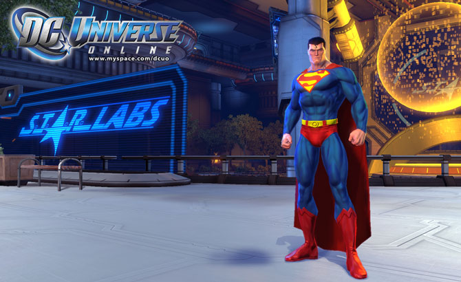 DC Universe Online Superman at Starlabs