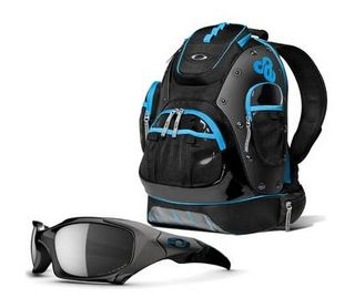 Oakley's Tron backpack and sunglasses