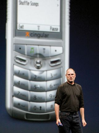 Steve Jobs introduces the ROKR