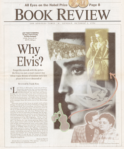 Los Angeles Times Book Review: Why Elvis?