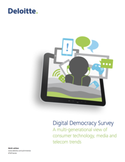 Deloitte: Digital Democracy Survey
