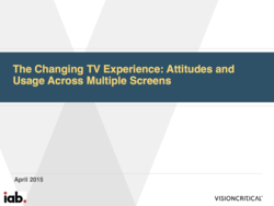 IAB: The Changing TV Expe­rience