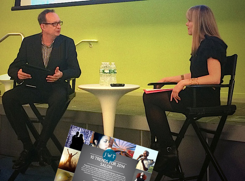 "Frank discusses ""Immersive Experiences"" at the JWT 10 Trends for 2014 Salon"